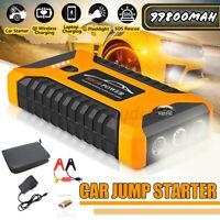 99800mAh 12V Car Jump Starter 4USB Emergency Auto Power Bank Rechargable  i