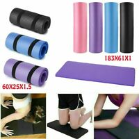 2 Type Non-Slip Yoga Mat Thick Fitness Meditation Exercise Camping Workout Pad