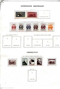 [20 216]- CENTRAL LITHUANIA 1920  -destocking stamps price MVH* / CANCEL