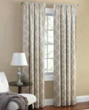 Mainstays Canvas Iron Work Curtain Panel Neutral 2 Panels Each One Is 50