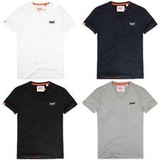 Nouvelle Chemise Superdry Trophée T-shirt à manches longues Noir Grain