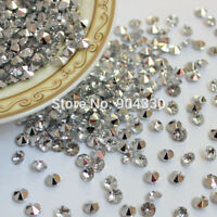 100pc 10MM Silver Wedding Party SCATTER Table Crystals Diamond Acrylic Confetti
