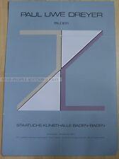 GERMAN EXHIBITION POSTER 1975 - PAUL UWE DREYER - IMAGES * ART PRINT