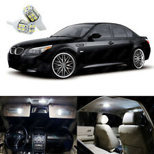 19 x Xenon White LED Interior Light Package Kit For BMW 5 Series M5 2004 - 2010