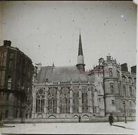 Francia Castillo De Postal-Saint-Germain-en-Laye Foto Placa De Cristal Vintage
