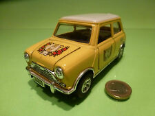 VINTAGE MORRIS MINI COOPER - DECALS - YELLOW 1:24? RHD - RARE - GOOD PULLBACK