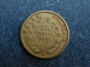 ANCIEN LOUIS D'OR NAPOLEON -20  FRANCS - 1857 A