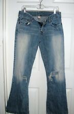 Abercrombie destroyed flare jeans pants 8 womens high waist vtg ripped