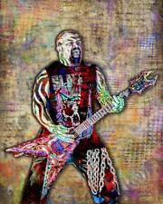 Kerry King Of Slayer 12x18in Poster Slayer Tribute Metal Music Art Free Shipping