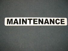 MAINTENANCE Magnetic Vehicle Signs 4 Apartment Building lawn or Golf Course