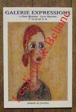 Carte postale Isabelle de Joantho,galerie Expressions , CPSM