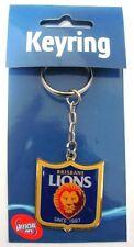 88128 AFL BRISBANE LIONS SHIELD LOGO KEYRING KEY RING