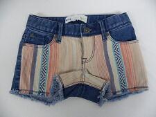 Roxy Kids Sz 5 Medium Denim Shorts TW Lisy patch Print