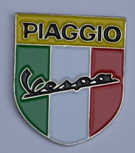 Piaggio Vespa Italian Scooter Shield Quality Enamel Pin Badge