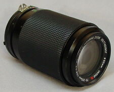 Vivitar DL 75-205mm Macro Zoom Lens Nikon Ai-S Camera Mount