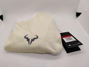 Size L Nike NikeCourt RAFA T-SHIRT Mens L AR5713-100 White/Yellow