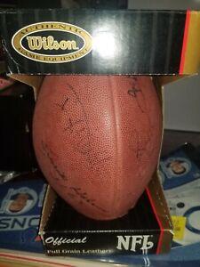 Steel Curtain autographed/signed FOOTBALL Joe Greene/LC/Holmes/White Steelers