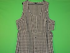 Who What Wear Womens Size 4X Plaid Sleeveless Button Front Dress
