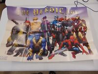 THE HEROIC AGE MARVEL COVER POSTER PROMOTIONAL IRON MAN SPIDER MAN THOR GM1159