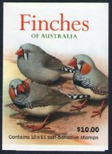 2018 STAMP BOOKLET FINCHES OF AUSTRALIA 10 x $1 MUH
