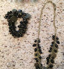 """NEW - Premier Designs""""PARIS"""" Bracelet & Necklace - Black/Gold Set - NIB-RV $117"""