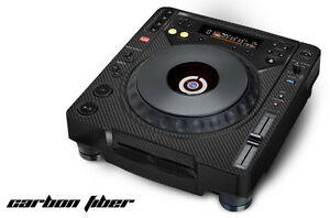 Skin Decal Sticker Wrap for Pioneer CDJ 800 MK2 Turntable Pro Audio Mixer CARBON