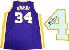 35545b55345 Shaquille O'Neal Autographed Los Angeles Lakers Purple Jersey ...