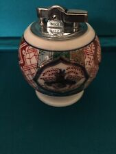 """Kutani Japanese Table Lighter 3"""" tall and 2"""" in diameter hand painted"""