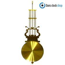 New Extra Long Clock Pendulum Rod & Bob - 400mm Imitation Gold Rod & 115mm Bob