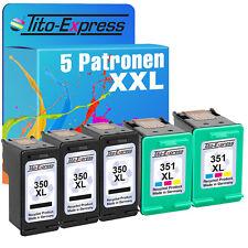 Set 5 CARTUCCE ecoserie per 3x HP 350 XL & 2x HP 351 XL PHOTOSMART c5280
