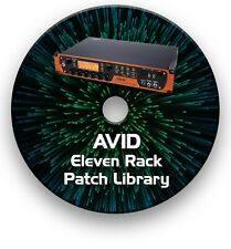 AVID ELEVEN RACK PATCH LIBRARY GUITAR EFFECTS RIG TONES &  PRESETS CD