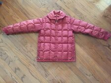 Vintage Comfy Seattle Quilt Down Puffer jacket coat Burgundy Womens Small Rare