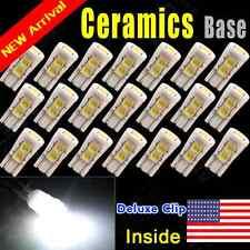 20X White T10 Ceramic Base High Power 168 194 Dome Map Cargo LED Light Bulbs