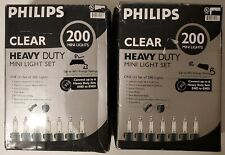 Philips 200 Count Heavy Duty Christmas Incandescent Mini String Lights Clear