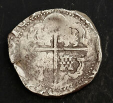 1634, Bolivia, Philip Iv. Spanish Colonial Silver 8 Reales Cob Coin. Full Date!