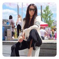 Karen Millen Boho Lace Applique Pintuck Ivory Blouse Shirt Party Top 10 to 14