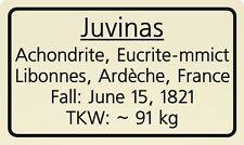 Meteorite label Juvinas