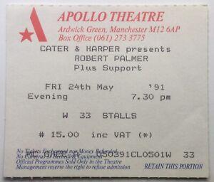 Robert Palmer Original Used Concert Ticket Apollo Theatre Manchester 24 May 1991