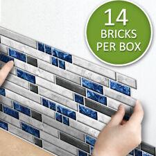 14Pcs Marble Wall Sticker Self-adhesive Waterproof Wallpaper Living Room Bedroom