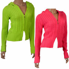 Zip Waist Length Acrylic Jumpers & Cardigans for Women