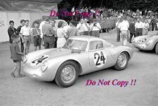 Umberto Maglioli & Hans Herrmann Porsche 550A Coupe Le Mans 1956 Photograph