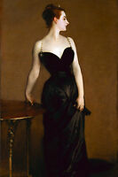 Large Sargent Madame X Woman In Black Dress Painting Real Canvas Art Print