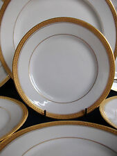 BERNARDAUD- B & Co- LIMOGES-BREAD & BUTTER PLATE(s)- ENCRUSTED GOLD RIM!! MINT!!