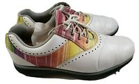 FootJoy Emerge Golf Shoes Spikes White Rainbow Spiked Cleats Shoes Womens Size 9