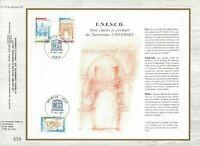 Foglio CEF 1er Giorno Francia Unesco 1981