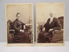 Man & Wife Cabinet Card Portraits F.J. Basset Erie Pa.