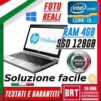 PC NOTEBOOK HP ELITEBOOK 2570P 12.5 CPU i5 3320m 2.64GhZ 4GB RAM SSD 128GB+WIN10