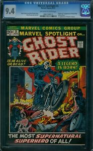 Marvel Spotlight 5 CGC 9.4  1st Ghost Rider ow/w pages!