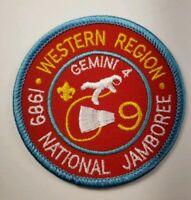 Boy Scout 1989 National Jamboree Western Region GEMINI Patch