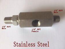 "1/8"" Tee Fitting 2 Male BSPT to Female NPT Pressure Sensor Gauge Turbo Oil 2Y8V"
